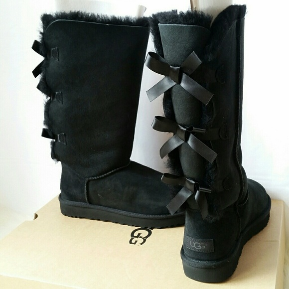 6b714b9d443d Black Uggs The Bailey Bow Tall II Boots
